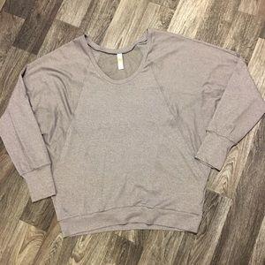 Lolë Shimmery Grey Pullover